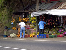 Fruit stand at the roadside Royalty Free Stock Photos