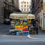 Fruit Stand in Rome Royalty Free Stock Photo