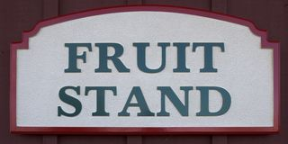 Fruit Stand Sign Stock Photo