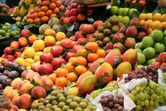 Fruit stand on summer Royalty Free Stock Images