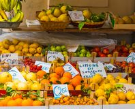 Fruit stand in world famous Sorrento royalty free stock images