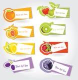 Fruit sticker set Stock Photo