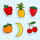 Fruit Stickers Stock Photo