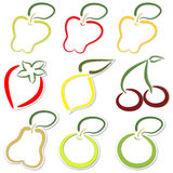 Fruit stickers Royalty Free Stock Image