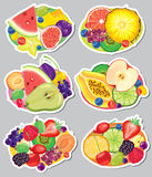 Fruit stickers Royalty Free Stock Photo