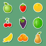 Fruit Stickers Royalty Free Stock Photos