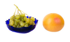 Fruit still life. Isolated on a white background Stock Images