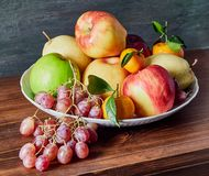 Fruit still life on the table stock images