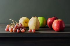 Fruit still life on the table stock photography
