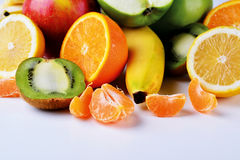 Fruit still life. A variety of fruits on the table stock photography