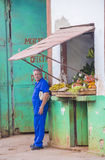Fruit store in Havana , Cuba Royalty Free Stock Photography