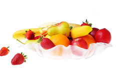 Fruit and  strawberries Royalty Free Stock Images