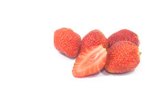 Fruit. Strawberry, berry red isolated white background Royalty Free Stock Image