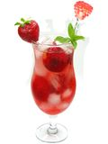 Fruit strawberry cocktail punch cocktail Royalty Free Stock Photography