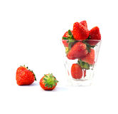 Fruit strawberry food rad glass stock photography
