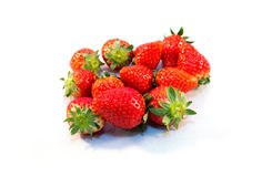 Fruit strawberry food rad glass stock photos