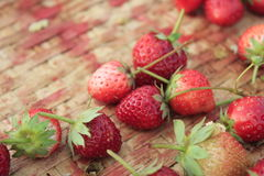 Fruit strawberry. Fresh red strawberry close up Stock Images