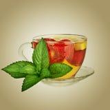 Fruit strawberry tea Stock Photo