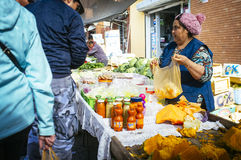 Fruit in street market Royalty Free Stock Photos