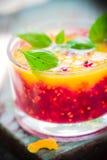 Fruit Summer orange currant mousse Royalty Free Stock Photo