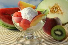 Fruit sundae Royalty Free Stock Photos