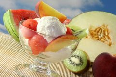 Fruit sundae Royalty Free Stock Photography