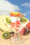 Fruit sundae Stock Photography