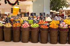 Fruit at a supermarket Siam Paragon in Bangkok, Thailand. Royalty Free Stock Photography
