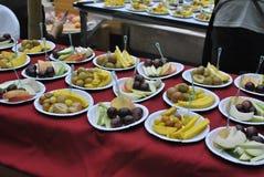Fruit sur le plat Photo libre de droits