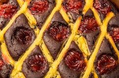 Fruit sweet pastries cake closeup Stock Image