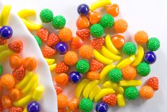 Fruit sweets. Of candy used Royalty Free Stock Image