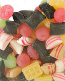 Fruit sweets of candy used. Royalty Free Stock Photo