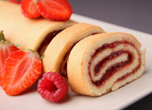 Fruit swiss roll Royalty Free Stock Photo