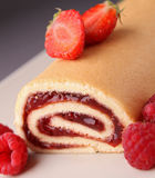 Fruit swiss roll Royalty Free Stock Image