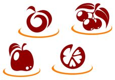 Fruit symbols Stock Images