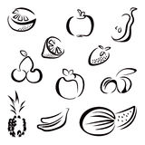 Fruit symbols Stock Photos