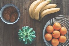 Fruit on table Stock Photos