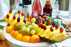 Fruit on the table of the restaurant Royalty Free Stock Image
