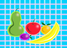 Fruit on the Tablecloth Royalty Free Stock Images