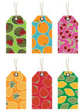 Fruit tags Royalty Free Stock Photos