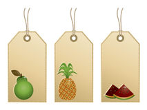 Fruit tags Royalty Free Stock Image