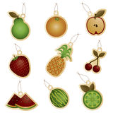 Fruit tags Stock Photo