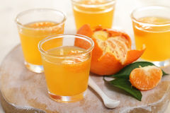 Fruit tangerine jelly Stock Photos