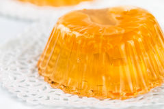 Fruit tangerine jelly Royalty Free Stock Photography