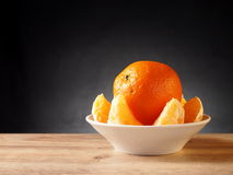Fruit tangerine. Orange in a basket Royalty Free Stock Photos