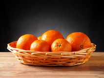 Fruit tangerine. Orange in a basket Stock Image