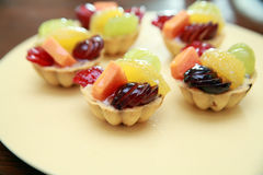 Fruit tarlets dessert Royalty Free Stock Image