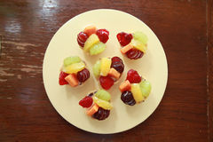 Fruit tarlets dessert Royalty Free Stock Photography