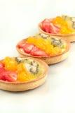 Fruit Tart. A close up of 3 fruit tarts Stock Photo