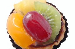 Fruit tart. A close up of a fruit tart Stock Images